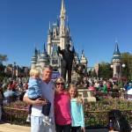 Enjoying walking around Disney World with my family!